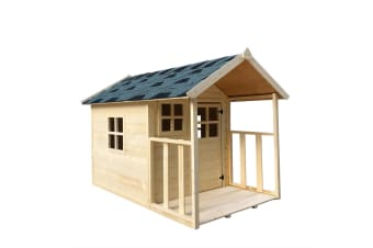 Wooden Cubby House for Kids Outdoor Playhouse with Flooring