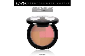 Nyx Mosaic Powder Dare #Mpb12 Blush Bronzer Pink Natural Golden Summer