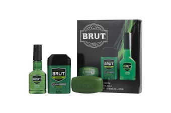 Faberge Brut Coffret: After Shave Cologne Spray 88ml + Solid Deodorant 70ml + Classic Bar Soap 99g 3pcs