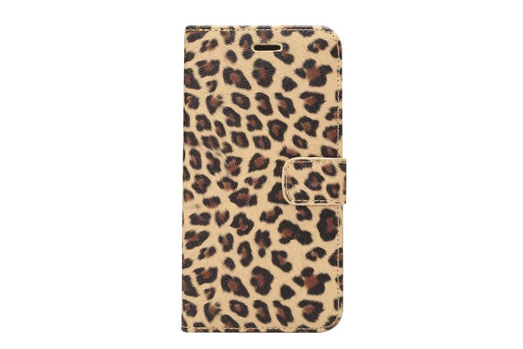 For Samsung Galaxy S9 PLUS Wallet Case Stylish Leopard Leather Cover Yellow