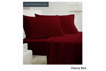 250tc Polyester Cotton Sheet Set Cherry Red King Single by Gainsborough