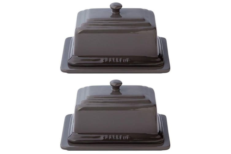 2PK Chasseur La Cuisson Butter Margarine Ceramic Kitchen Dish Container Caviar
