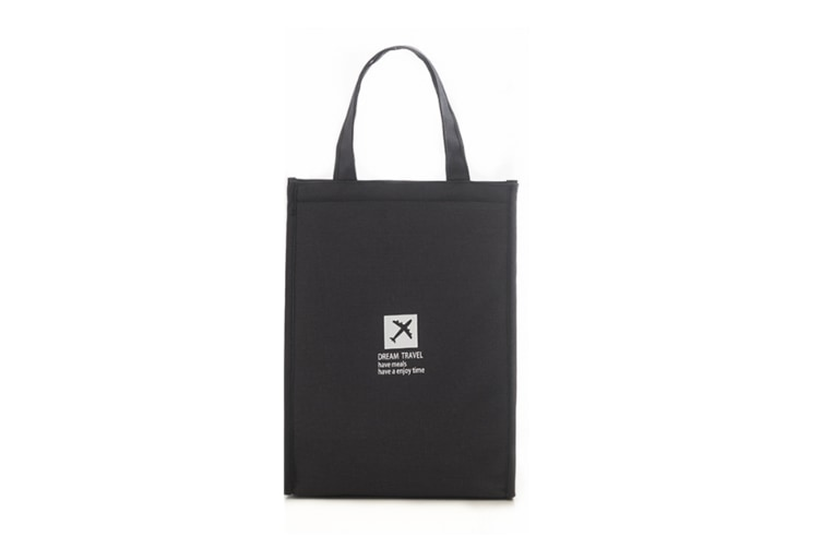 Simple Waterproof And Thermal Insulation Bag For Lunch Pocket - Black Black L(25X35X17Cm)