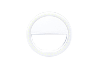 Selfie LED Light Ring Flash Fill Clip Camera For I-Phone & Tablet White White