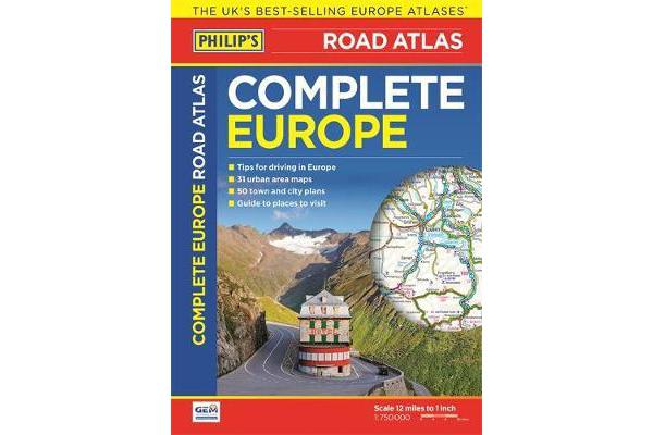 Philip's Complete Road Atlas Europe 2016