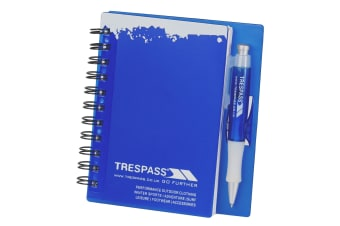 Trespass Notebook And Pen Set (Blue)