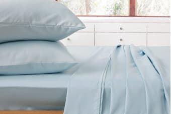 Ardor 1000TC Luxury Sheet Set (Queen/Pale Blue)