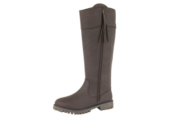 Woodland Womens/Ladies Bailey Waxy Leather Country Boot (Dark Brown) (8 UK)