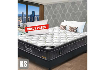 KING SINGLE Mattress Euro Top 9 Zone Pocket Spring Latex Memory Density Foam