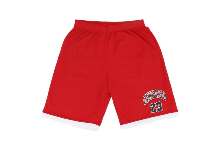 Men's Basketball Sports Shorts Gym Jogging Swim Board Boxing Sweat Casual Pants - Red - Chicago 23