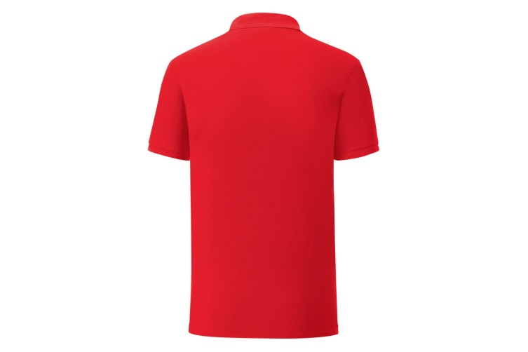 Fruit Of The Loom Mens Iconic Pique Polo Shirt (Red) (3XL)