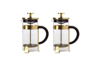 2PK Maxwell & Williams Blend 350ml Coffee Plunger Press Glass Stainless Steel GD