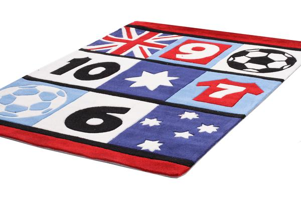 Awesome Soccer Southern Cross Rug Blue 165x115cm