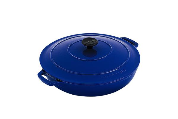 Chasseur Round Casserole w/ Lid 30cm - 2.5L French Blue