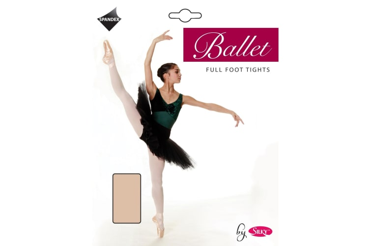 Silky Girls Dance Ballet Tights Full Foot (1 Pair) (Theatrical Pink) (3-5 Years)