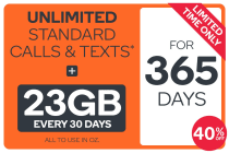 Kogan Mobile Prepaid Voucher Code: EXTRA LARGE (365 Days | 23GB Per 30 Days)