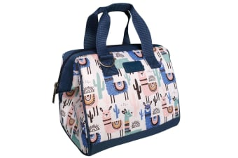 Sachi Thermal Insulated Picnic Lunch Box Cooler Food Storage Bag Llamas w  Strap