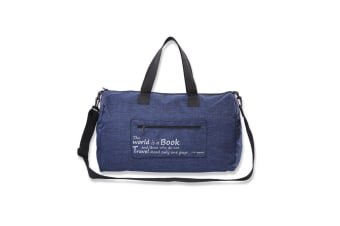 Travel Folding Bag Thickened Waterproof Large Capacity Receiving Bag - Blue Blue