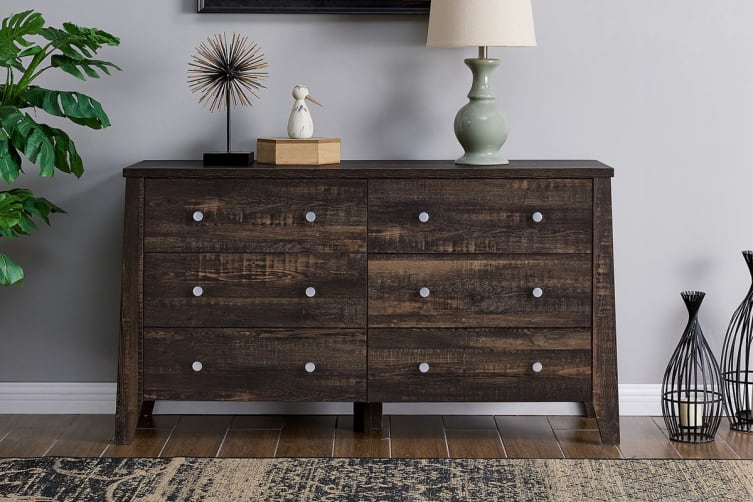 Shangri-La Chest of 6 Drawers - Camden Collection (Dark Oak)