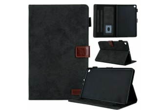For Galaxy Tab A 8.0 2019 P200/P205 Tablet Flip Leather Stand Cover Case-Black