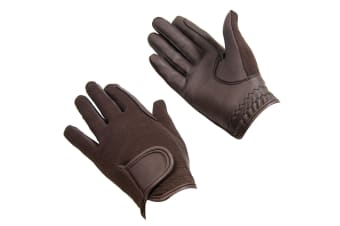 Bitz Unisex Adults Synthetic Leather Gloves (Brown)