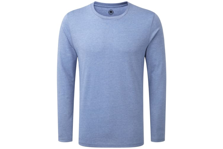 Russell Mens Long Sleeve HD T-Shirt (Blue Marl) (M)