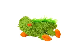 VIP Tuffy Mighty JR Microfiber Lizard Dog Toy (Green)