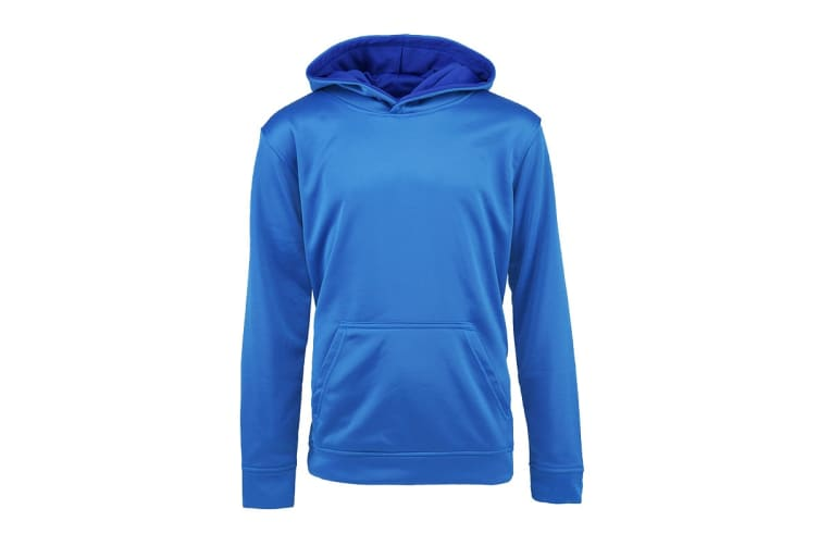 Champion Boys' Solid Performance Pullover Hoodie (Steel Blue, Size L)