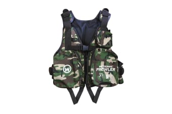 Watersnake Prowler Camo Adult Life Jacket - Level 50S PFD [Size: Extra Large]