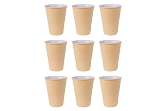 12pc Avanti 400ml Miami Melamine Plastic Reusable Drink Cup Tumbler Butter Cup