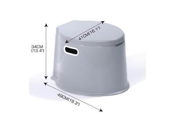 6L Large Portable Toilet Compact Potty Loo Pool