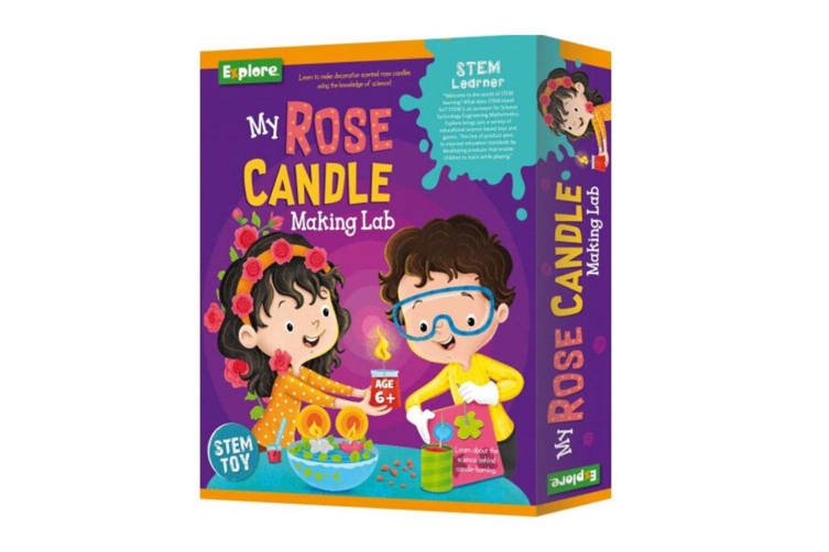 2PK Explore Stem Medium Educational Toy My Rose Candle Making Lab for Kids 6y+