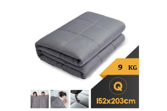 WEIGHTED BLANKET QUEEN Heavy Gravity GREY 9KG