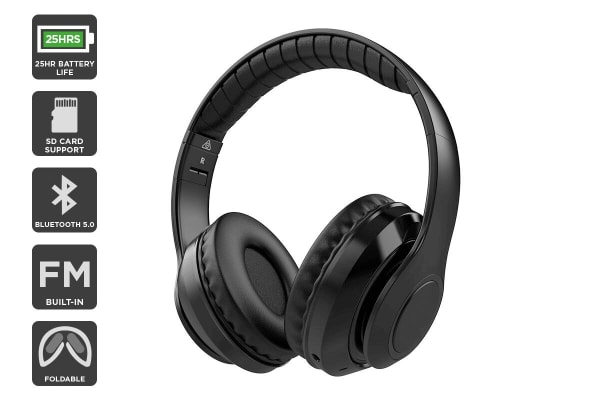 Kogan Pro Urban II Bluetooth Headphones (Midnight Black)