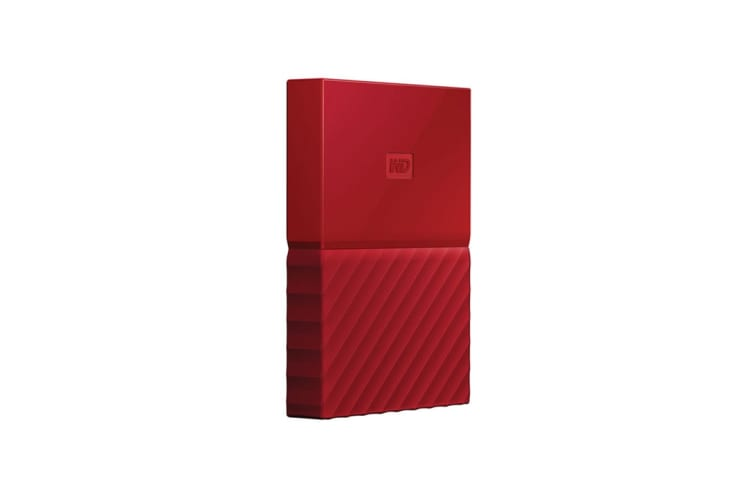 WD My Passport 4TB USB 3.0 Portable Hard Drive - Red (WDBYFT0040BRD-WESN)