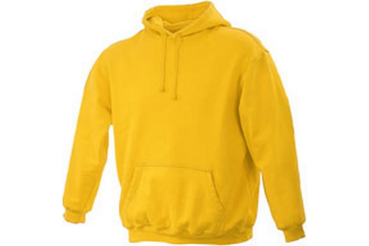 James and Nicholson Unisex Hooded Sweatshirt (Gold Yellow) (L)