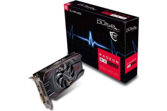 Sapphire AMD PULSE RX 560 4GB Gaming Video Card - GDDR5 DP/HDMI/DVI AMD Eyefinity 1226MHz Engine / 1500MHz GDDR5