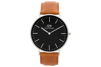 Daniel Wellington 40mm Classic Durham Leather Watch - Saddle/Black/Silver