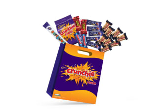 19x Cadbury Crunchie Kids Chocolate Showbag w/Dairy Milk/Curly Wurly/Cherry Ripe