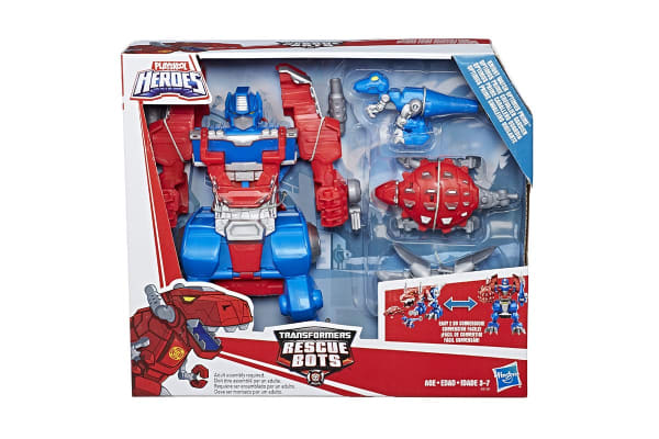Playskool Heros Rescue Bots Knight Watch Optimus Prime