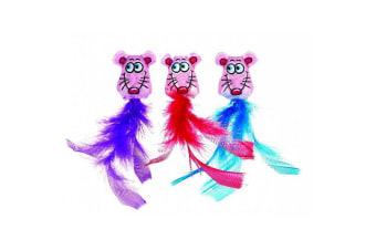 Classic Fluffy Feathers Cat Toy 2 Pack (Fat Cat)