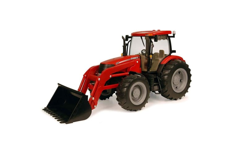 Case IH 1:16 50cm Big Farm Agriculture Tractor w/ Loader Kids Diecast Toys Red