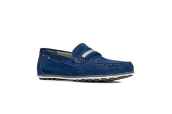 Geox Mens Mirvin Slip-On Shoes/Loafers (Dark Royal)