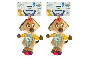 2PK Lamaze 21cm Lion King Clip & Go Baby/Infant Activity Teether Toy 0m+ Timon
