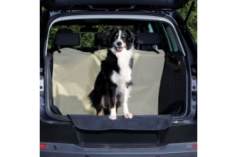 Trixie Divisible Car Boot Cover (Black/Beige)