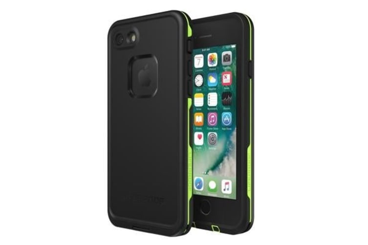 the best attitude a5fdf 4ab01 Lifeproof iPhone 8/7 Fre Case Black Lime. WATERPROOF