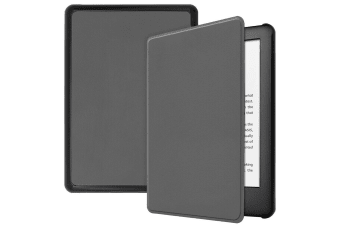Smart Stand Case For Amazon All New Kindle 2019 10th Gen PU Leather Folio Cover-Gray