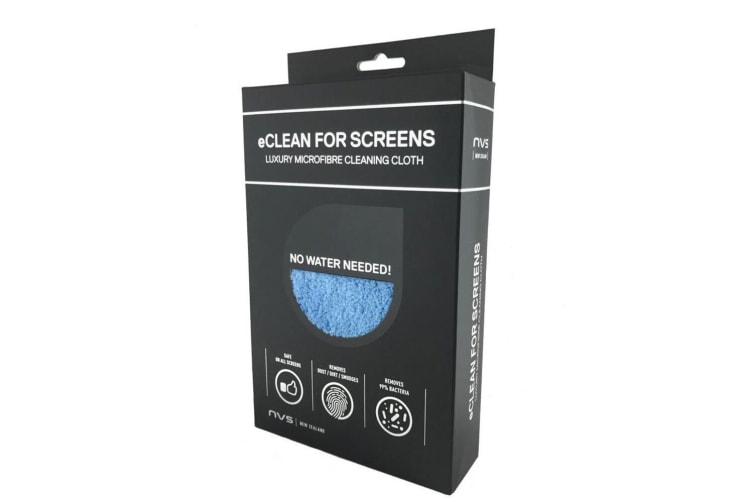 2PK NVS eClean 40cm Microfibre Cleaning Cloth For Computer/Laptop Screen/Monitor