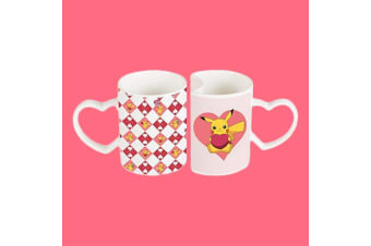 Pikachu Set of 2 `Fit Together` Heart Mugs | Official Pokemon Product