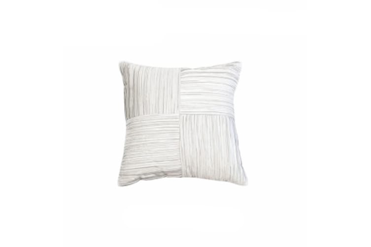Waverley White Square Filled Cushion by Ultima